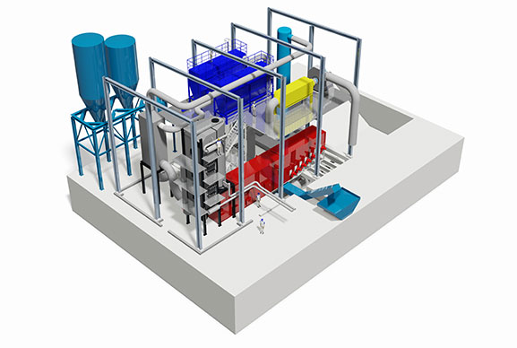 Michaelis | incineration plant for municipal and industrial sewage sludge